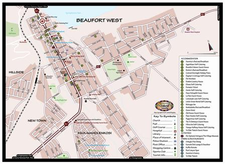Beaufort West Street Map